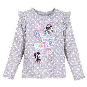 Mickey and Minnie Mouse Long Sleeve TShirt